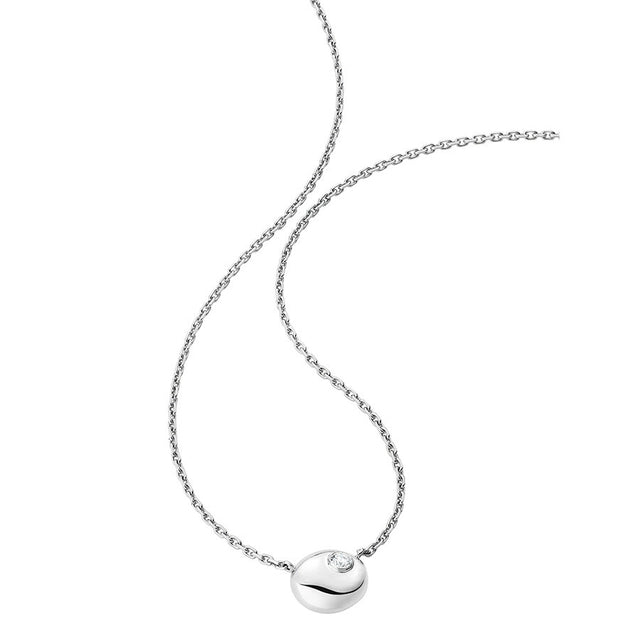 Gold Pebble Collection White Gold & Diamond Necklace - GERARDRIVERON