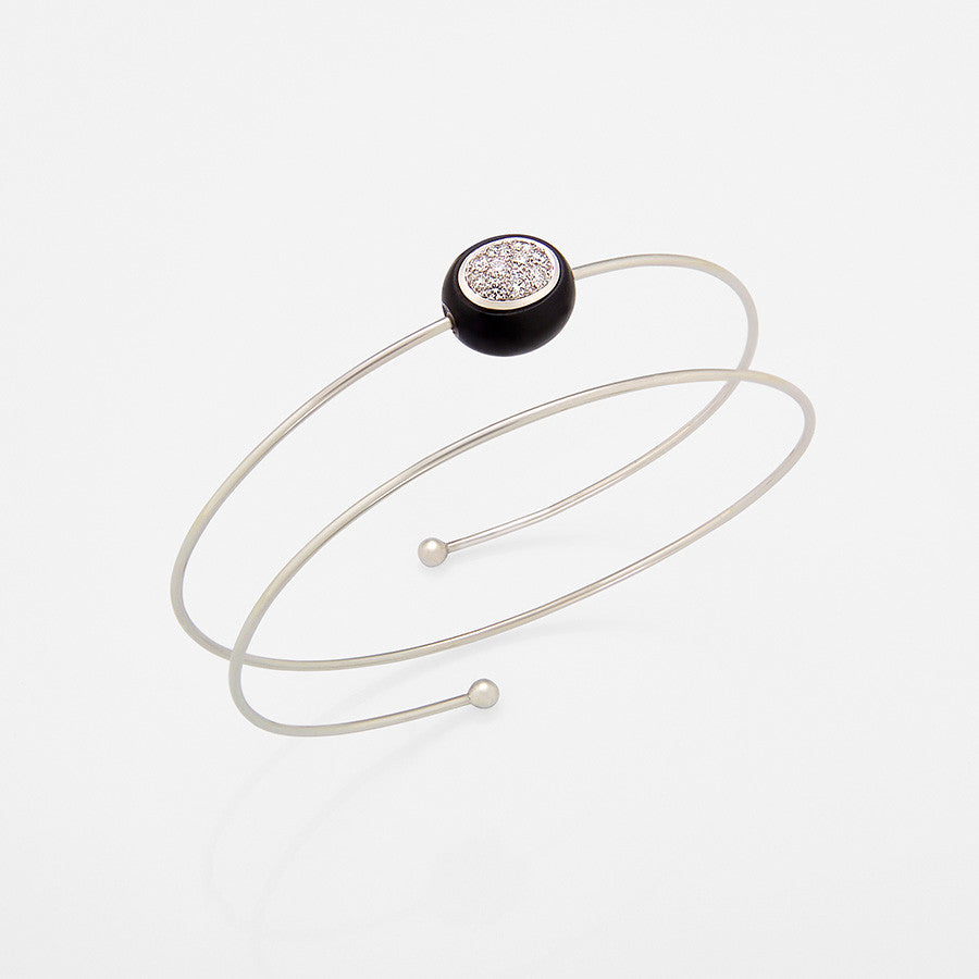 Mini Galet Collection Onyx & Diamond Bracelet - GERARDRIVERON