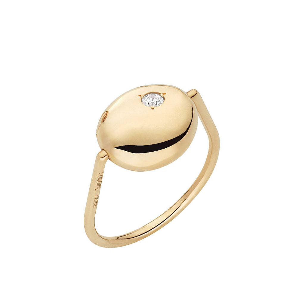 Yellow Gold & Diamond Ring from the Gold Pebble Collection