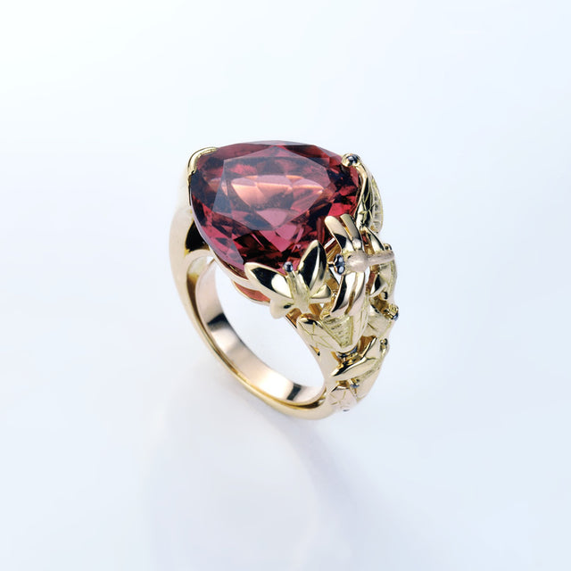 Natural History Collection Tourmaline & Diamond Ring Coeur #ALACARTEBRIDAL