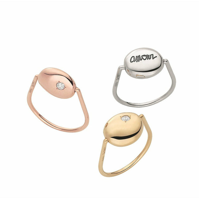 Gold Pebble Collection White Gold & Diamond Ring - GERARDRIVERON