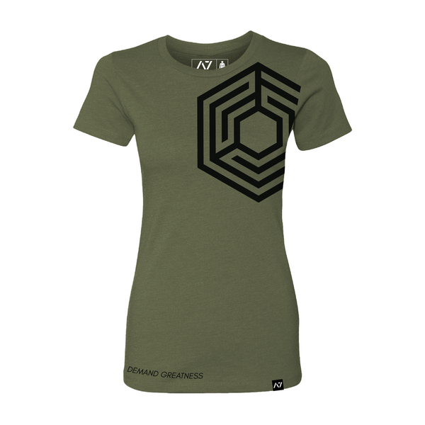 A7 STONE - MILITARY GREEN -  BAR GRIP™ PREMIUM WOMENS SHIRT