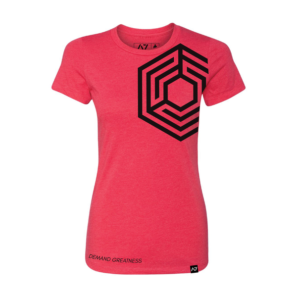 A7 STONE - RED -  BAR GRIP™ PREMIUM WOMENS SHIRT