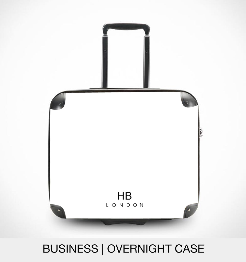 Personalised Grey with Custom Logo Initial Suitcase