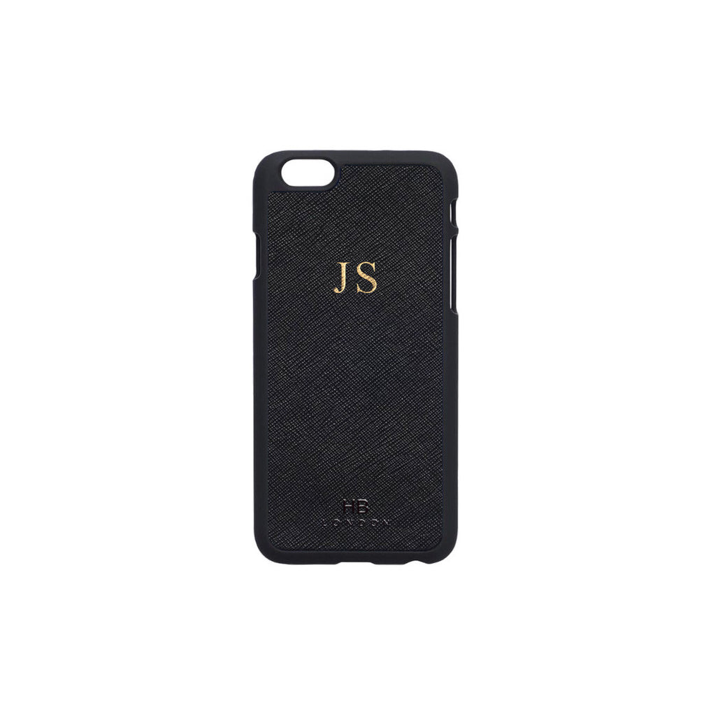 Black Saffiano Leather iPhone6/6s Phone Case