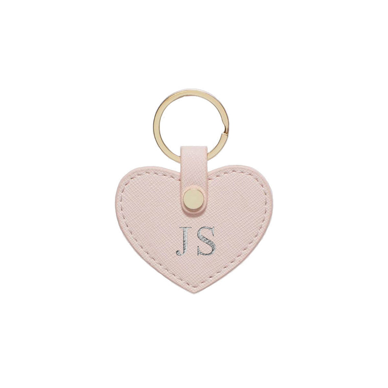 Blush Saffiano Leather Key Ring
