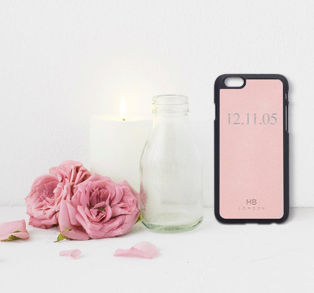 Blush Saffiano Leather iPhone6/6s Phone Case