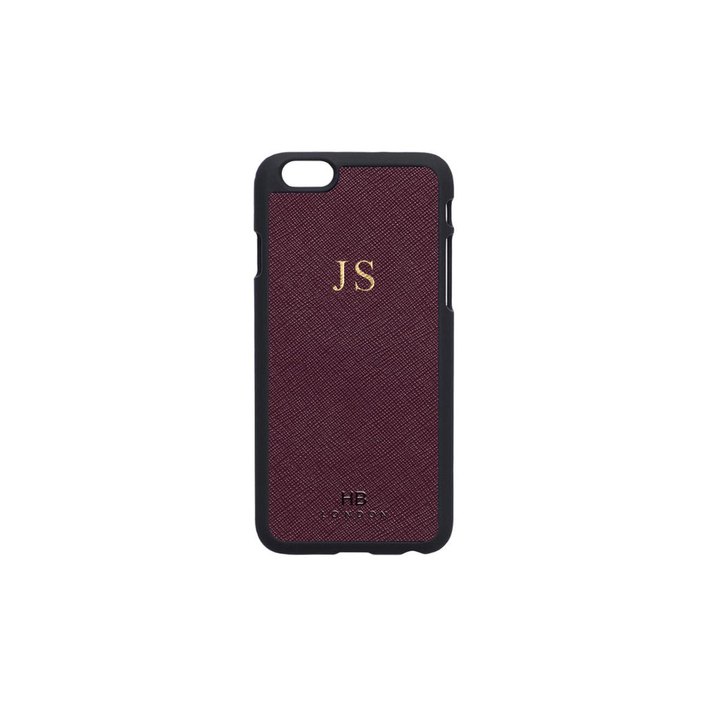 Burgundy Saffiano Leather iPhone6/6s Phone Case
