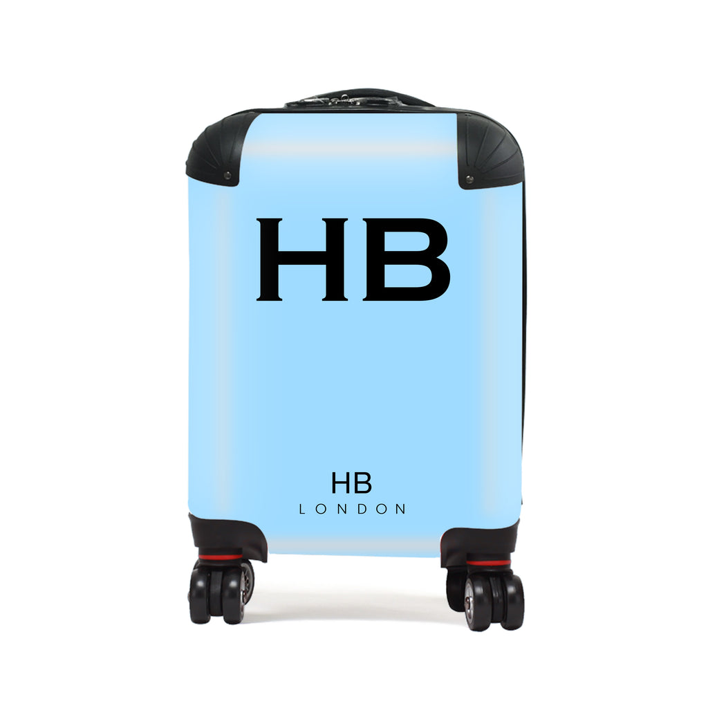 Personalised Blue with Black Font Children's Suitcase