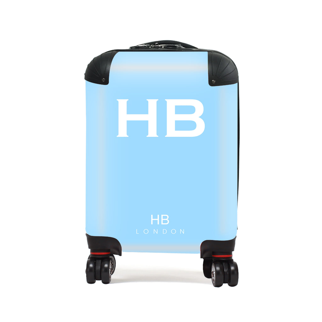 Personalised Blue with White Font Children's Suitcase