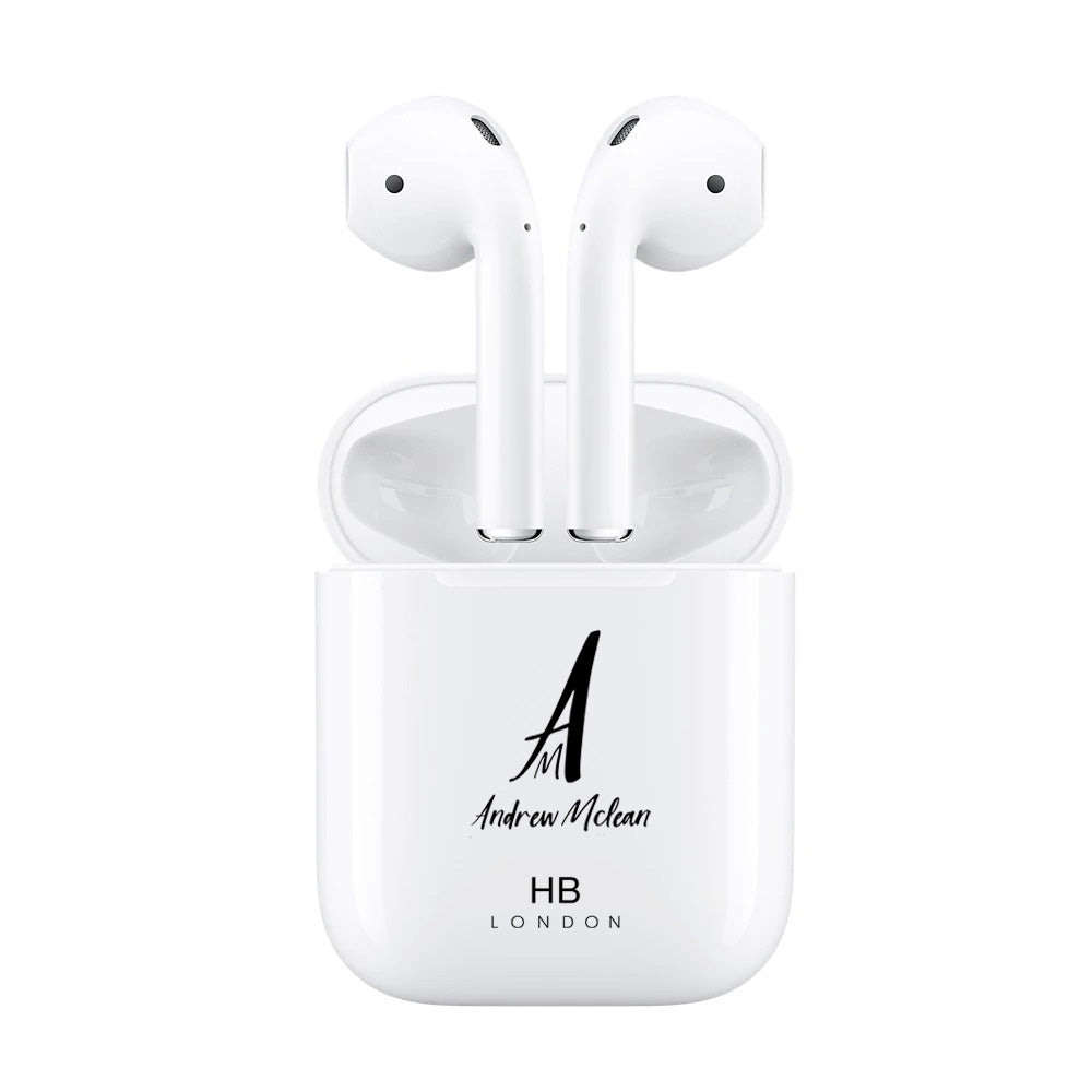 Personalised White with Custom Logo HD Ear Pods