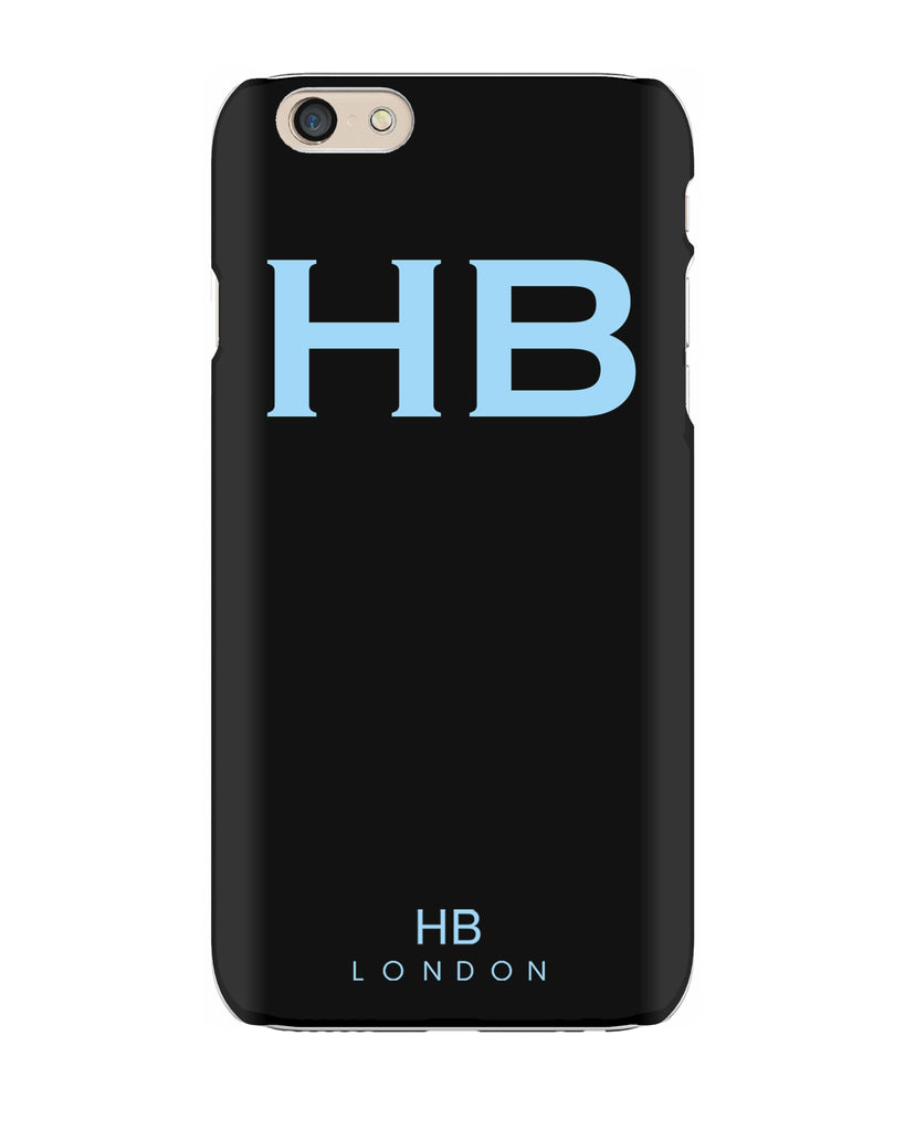 Personalised Black with Blue Font Initial Phone Case