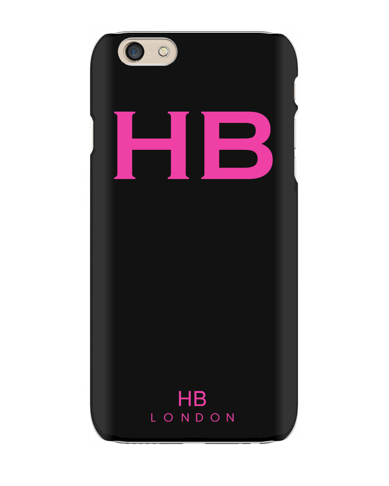 Personalised Black with Hot Pink Font Initial Phone Case