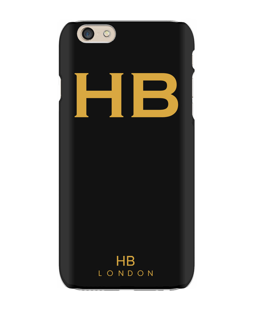 Personalised Black with Mustard Font Initial Phone Case