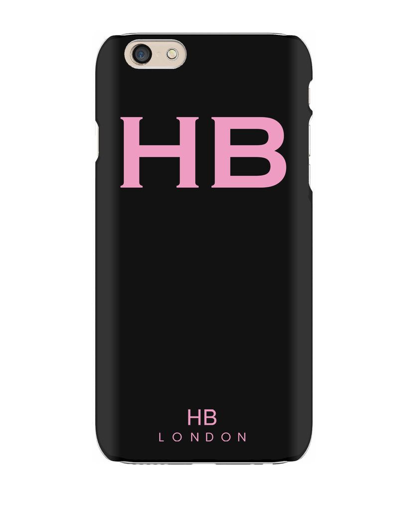Personalised Black with Pink Font Initial Phone Case
