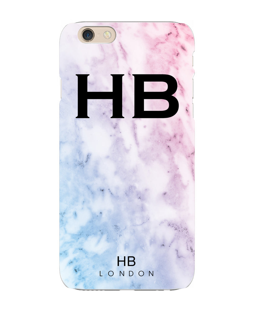 Personalised Pastel Marble Initial Phone Case