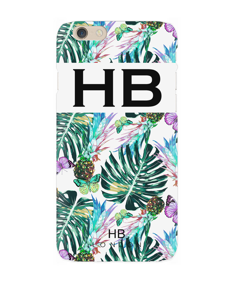 Personalised Pineapple Leaves Initial Phone Case
