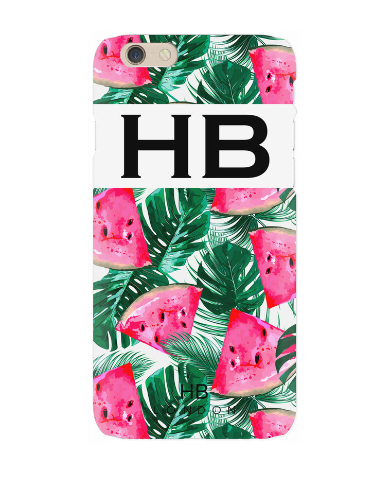 Personalised Watermelon Initial Phone Case