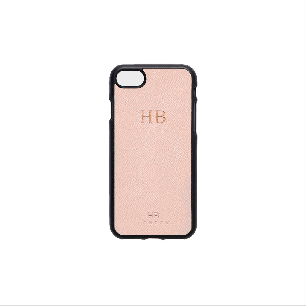 Blush Saffiano Leather iPhone7/8 Phone Case