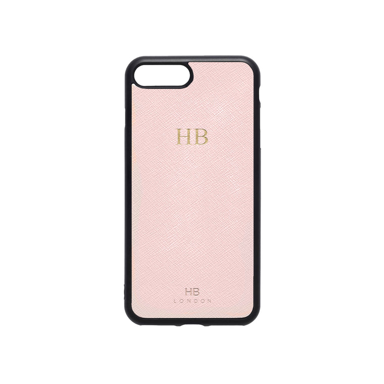 Blush Saffiano Leather iPhone7/8 Plus Phone Case