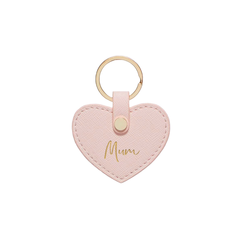 Blush Saffiano Leather 'Mum' Key Ring