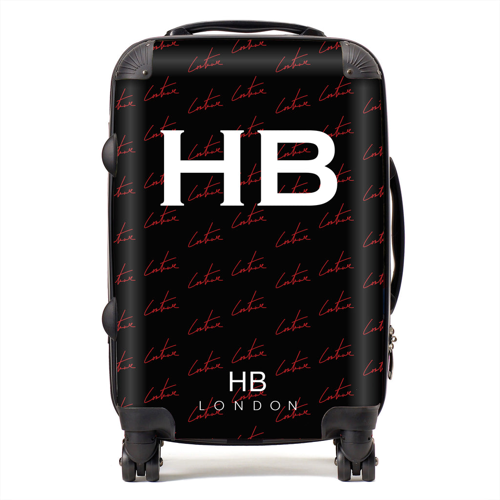 Personalised Couture Club Pattern Initial Suitcase
