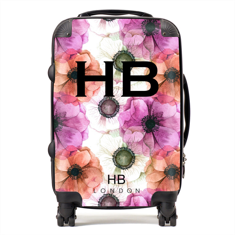 Personalised Poppy Initial Suitcase