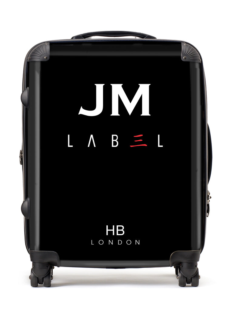 Personalised Black With Custom Logo Initial Suitcase