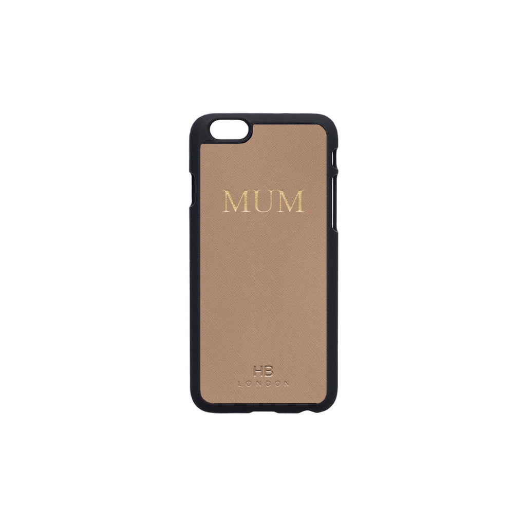 Nude Taupe Saffiano Leather iPhone6/6s Phone Case