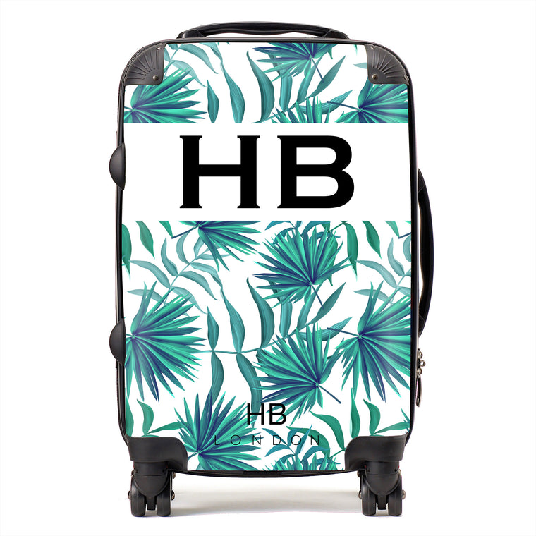 Personalised Palm Print Initial Suitcase