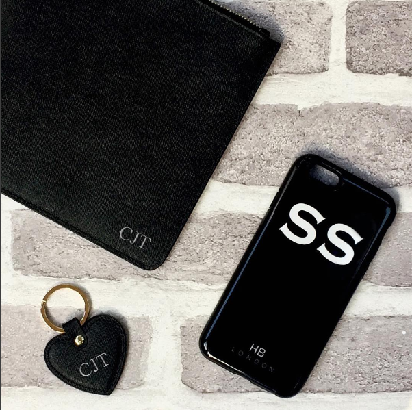 save off 568db 4aed3 Personalised Black Initial Phone Case
