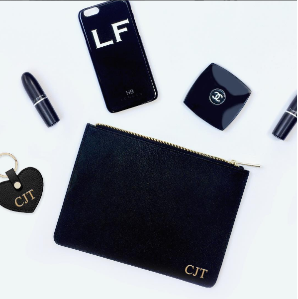 Personalised Black Initial Phone Case