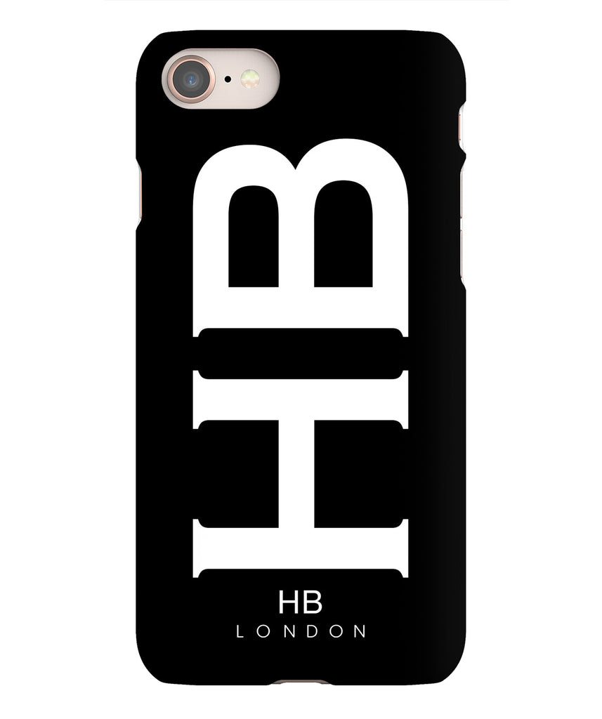 Personalised Black XL with White Font Initial Phone Case