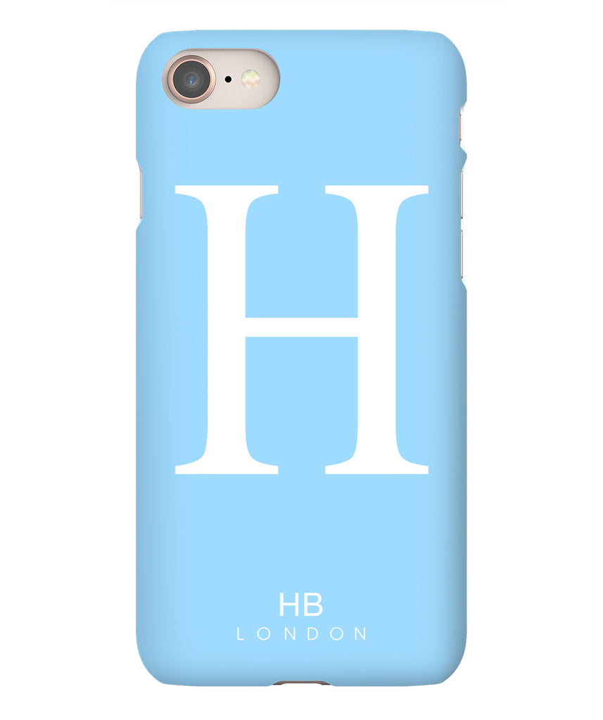 Personalised Blue Single Initial with White Font Phone Case