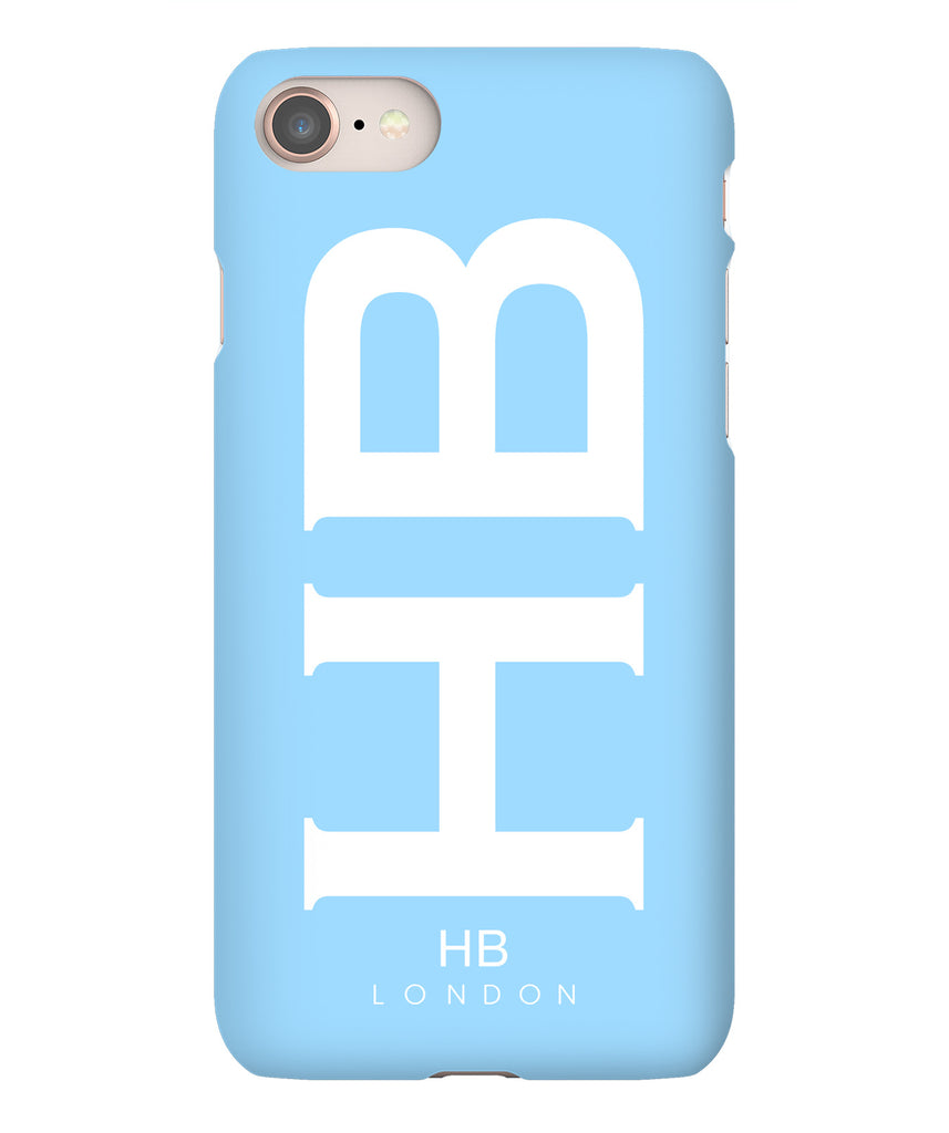 Personalised Blue XL with White Font Initial Phone Case
