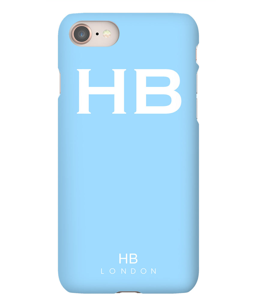 Personalised Blue with White Font Initial Phone Case