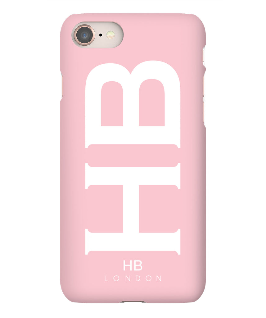 Personalised Blush XL with White Font Initial Phone Case