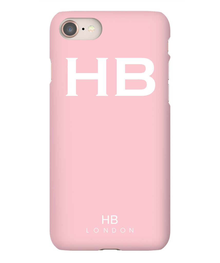 Personalised Blush with White Font Initial Phone Case