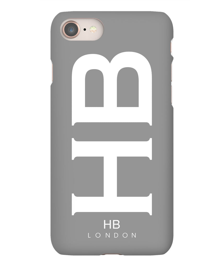 Personalised Grey XL with White Font Initial Phone Case