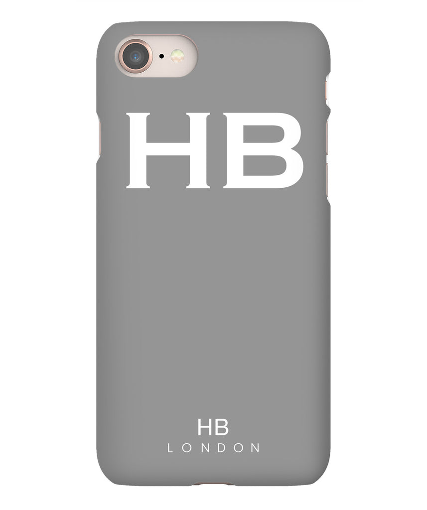 Personalised Grey with White Font Initial Phone Case