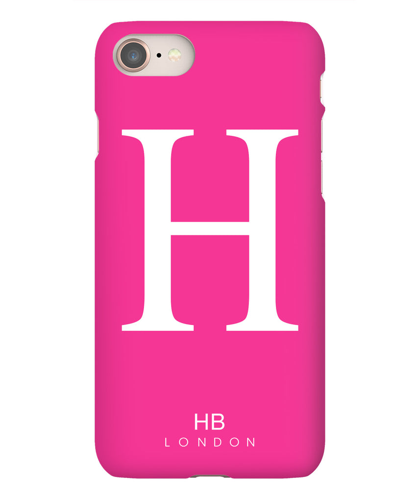 Personalised Hot Pink Single Initial with White Font Phone Case
