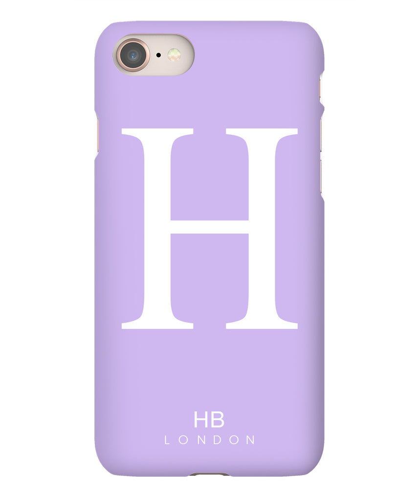 Personalised Lilac Single Initial with White Font Phone Case