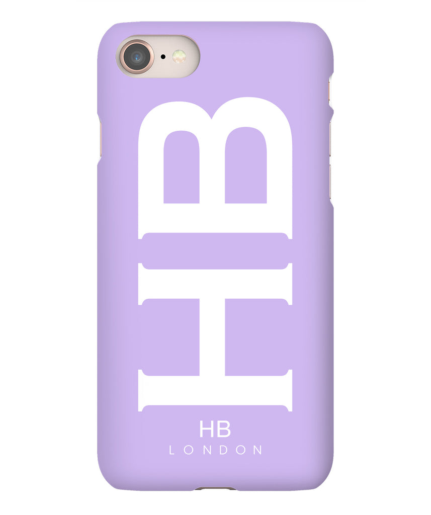 Personalised Lilac XL with White Font Initial Phone Case