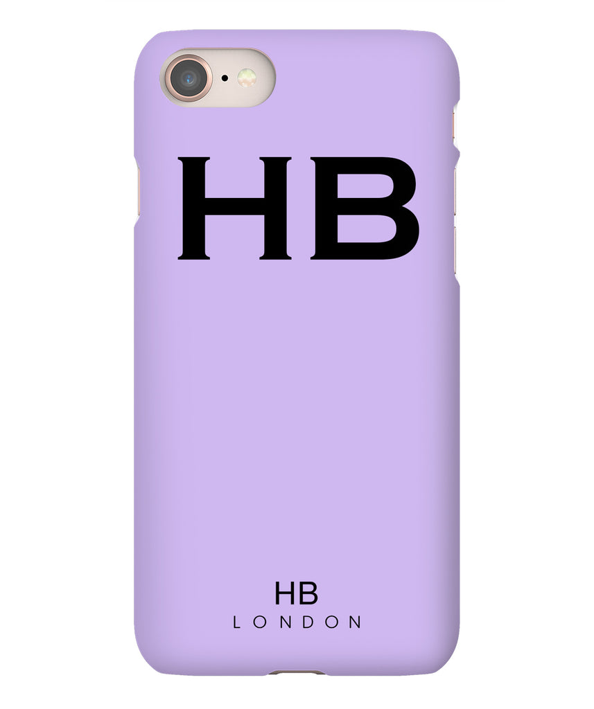 Personalised Lilac with Black Font Initial Phone Case