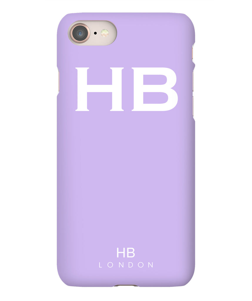 Personalised Lilac with White Font Phone Case