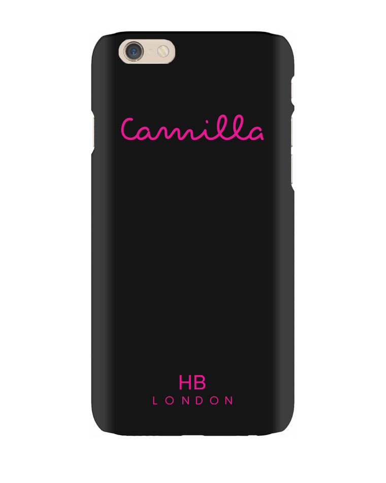 Personalised Black Love Script Phone Case