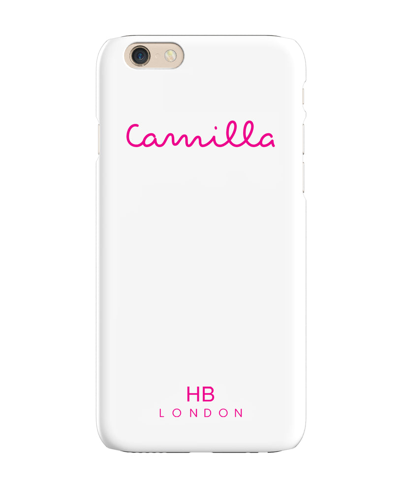 Personalised White Love Script Phone Case