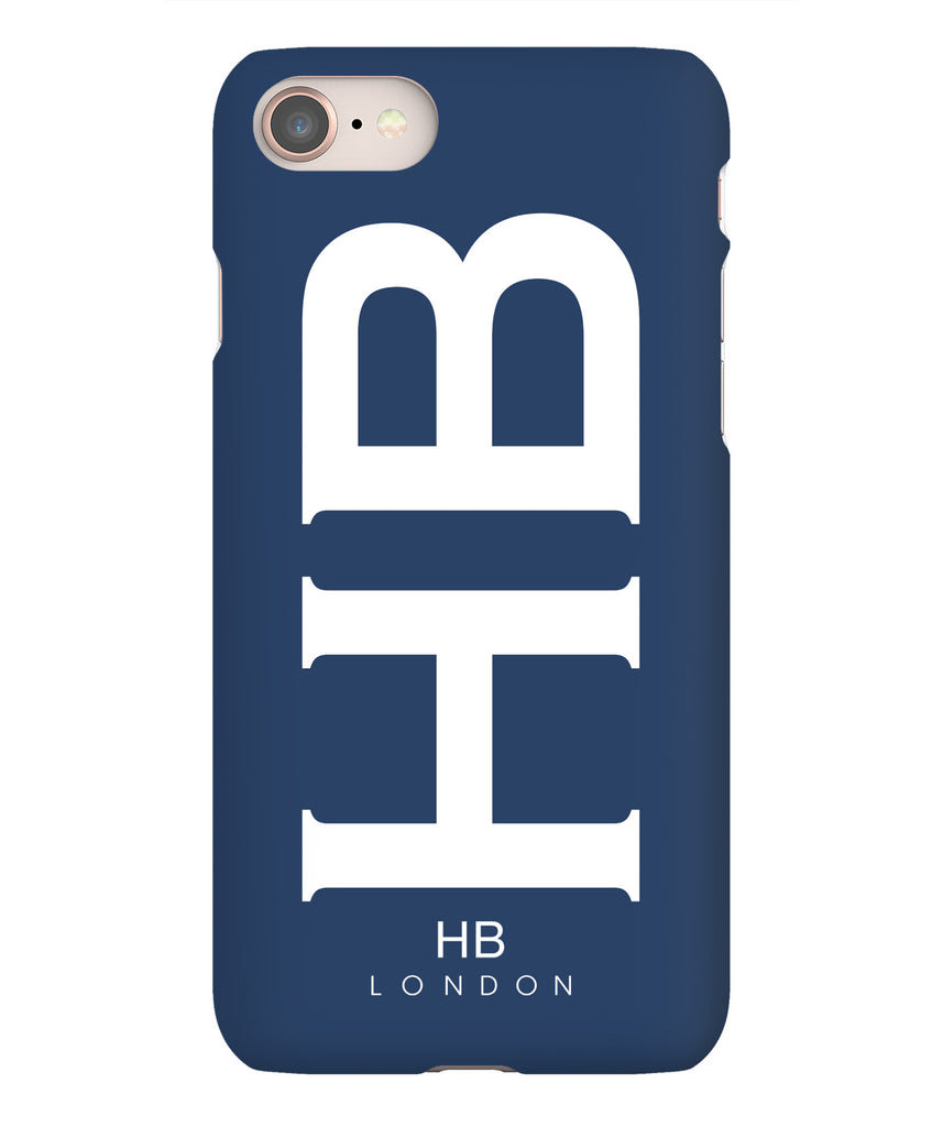 Personalised Navy XL with White Font Initial Phone Case