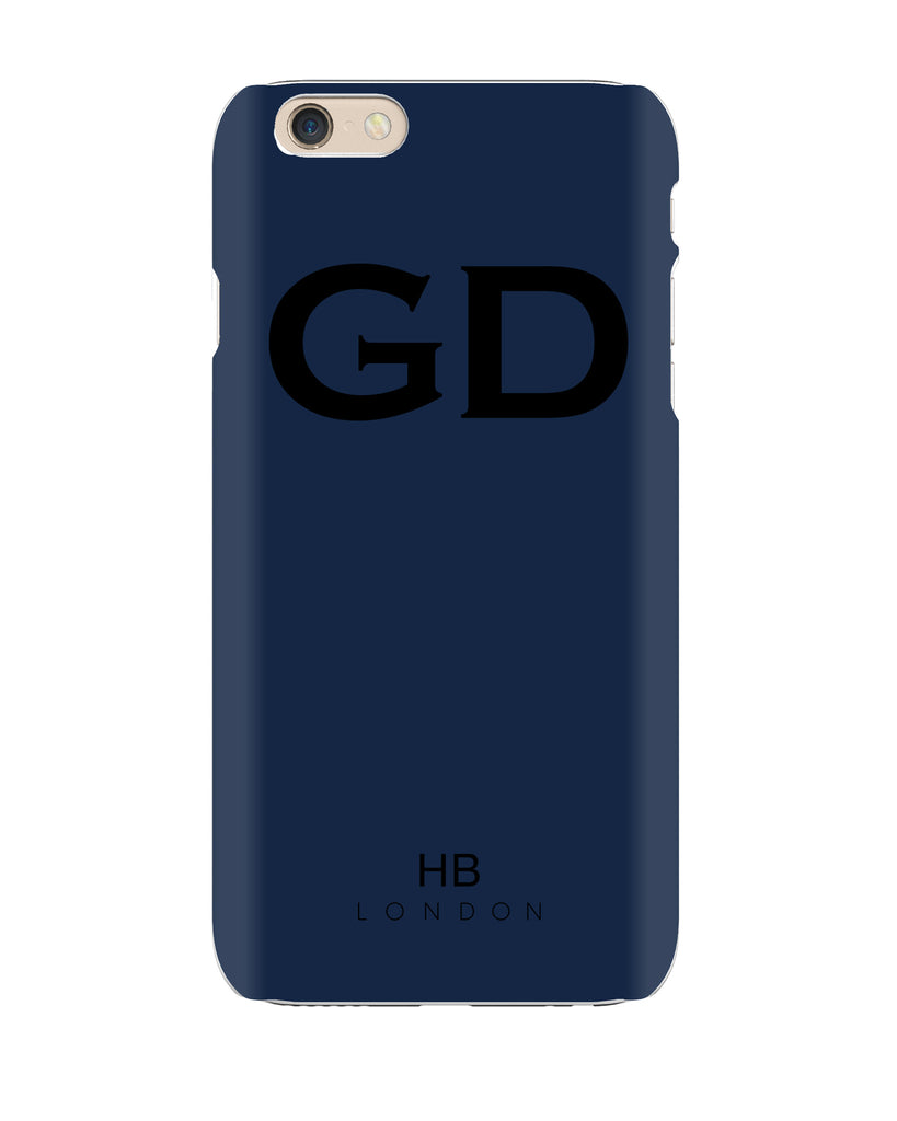 Personalised Navy Initial Phone Case with Black Font