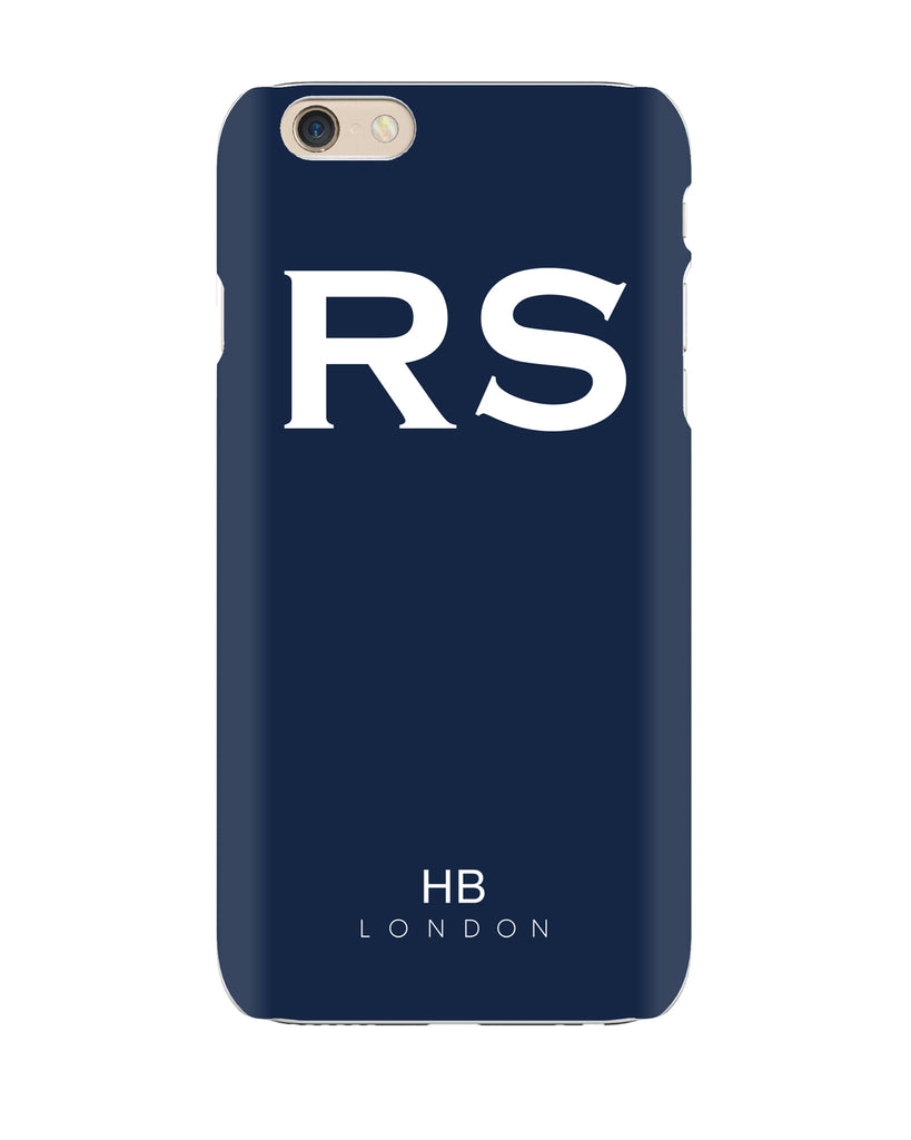 Personalised Navy Initial Phone Case with White Font